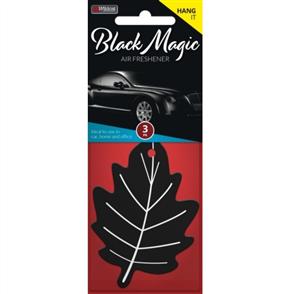 AIR FRESHENER LEAF BLACK MAGIC PK3