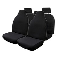 HYPER DRIVE CANVAS BLACK 4 PIECE SEAT COVER PACK