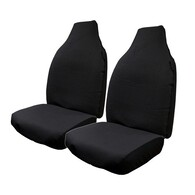 HYPER DRIVE CANVAS BLACK FRONT SEAT COVER PAIR