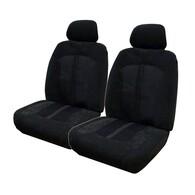 HYPER DRIVE VELOUR BLACK FRONT SEAT COVER PAIR