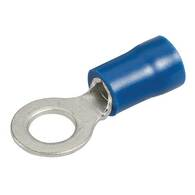 NARVA RING TERMINAL BLUE 5MM (25 PACK)