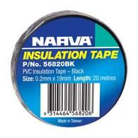 NARVA PVC INSULATION TAPE BLACK 19MM - 20M