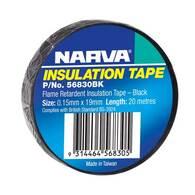 NARVA TAPE PVC FLAME RETARDANT BLACK - 20M