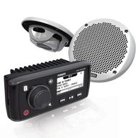 """FUSION MS-RA55 MARINE STEREO + 6"""" MS-EL602 X2 PACKAGE"""