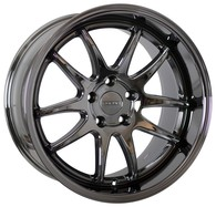 FORUM WHEELS ZEUS BLACK VACUUM CHROME