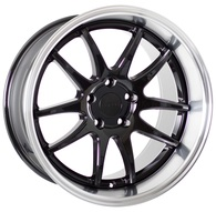 FORUM WHEELS ZEUS BLACK POLISHED LIP