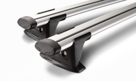 WHISPBAR THROUGHBAR SILVER RACK FLUSH RAILS + FITTING KIT