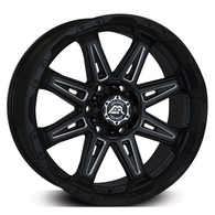 ADVANTI AXR M8 SATIN BLACK WITH MILLED SPOKE
