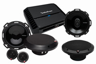 "ROCKFORD FOSGATE PUNCH PACKAGE #2 - 6.75"" COMP + COAX + AMPLIFIER"