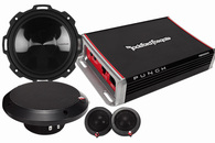 "ROCKFORD FOSGATE PUNCH PACKAGE #5 - 6.75"" COMP + AMPLIFIER"