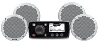 """FUSION MS-RA55 MARINE STEREO + 6"""" MS-EL602 X4 PACKAGE"""