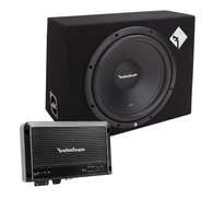ROCKFORD FOSGATE R1-1X12 PRIME SERIES BOXED SUBWOOFER + AMP