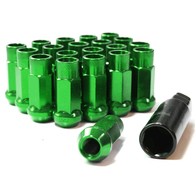 TORQ EXTENDED WHEEL NUTS X 20 GREEN 1.5