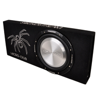 "SOUNDSTREAM MICRO-13SB 13"" SLIM SUB + BOX 4OHM 350W RMS"