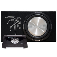 "SOUNDSTREAM ROK-13SB SLIM 13"" SUB + BOX + AMPLIFIER PACKAGE"