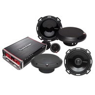 "ROCKFORD FOSGATE PUNCH SERIES 6"" COMP + COAX SPEAKERS + MICRO AMP"