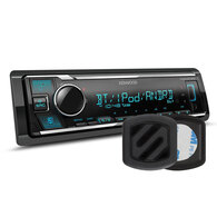 KENWOOD KMM-BT305 HEAD UNIT + MAGFM PHONE HOLDER PACK
